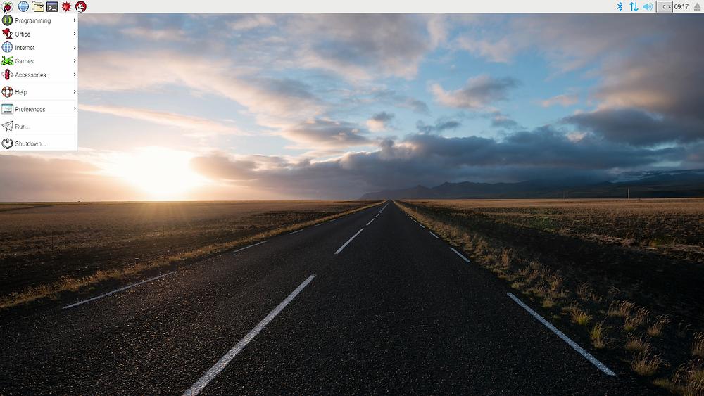Screenshot of Raspberry Pixel OS