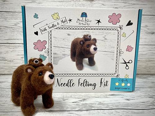 Needle Felting Kit | Bear (Mum & Baby)