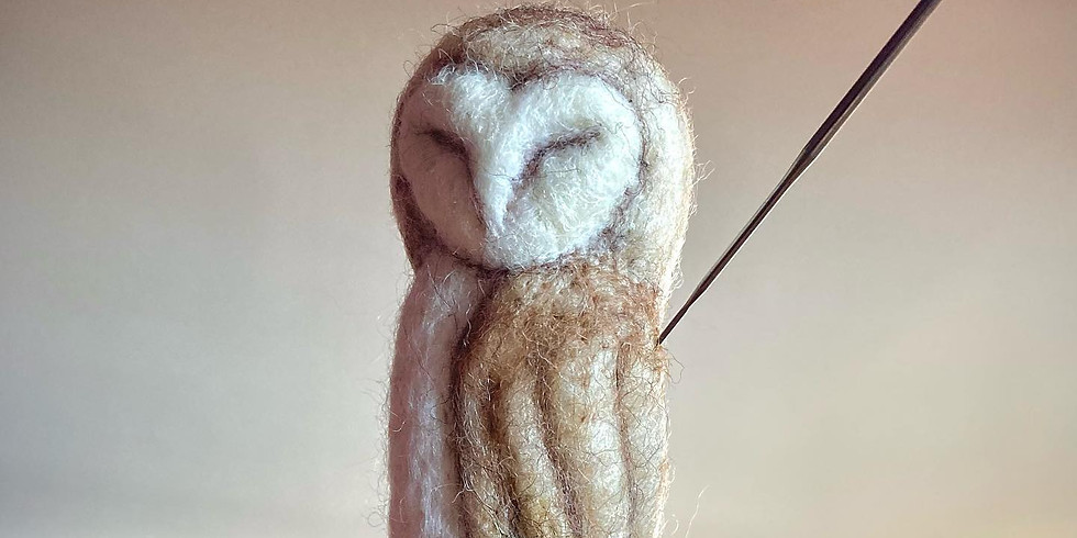 Needle Felt a Barn Owl   ZOOM Online Workshop   20th Feb 2021   3PM GMT