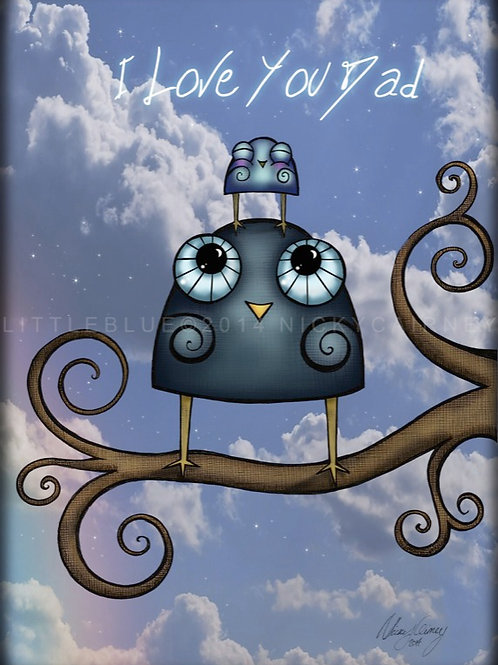 Little Blue 'Father's Day' Card