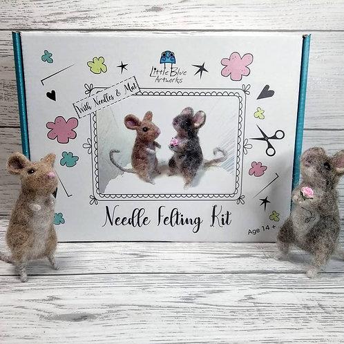 Needle Felting Kit | Mice