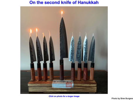 On the second knife of Hanukkah