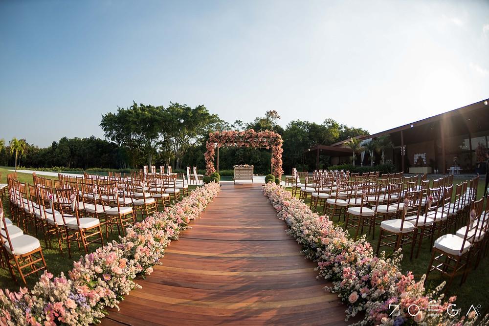 decoração cerimônia casamento rustico
