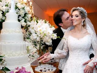 Casamento Rogéria e Sérgio | Branco e Dourado