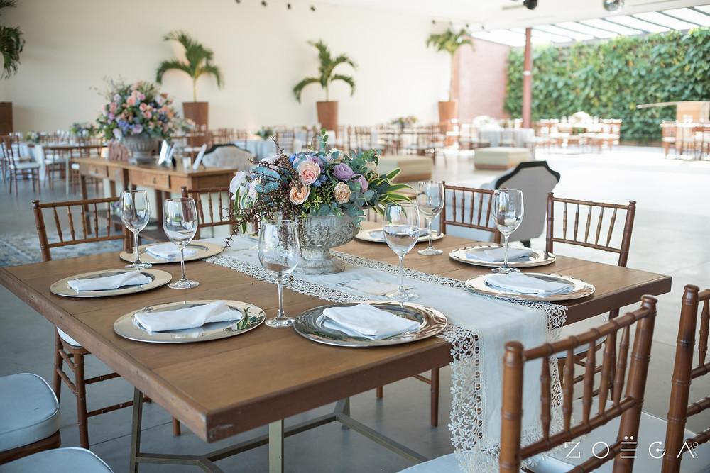 mesa casamento rustico