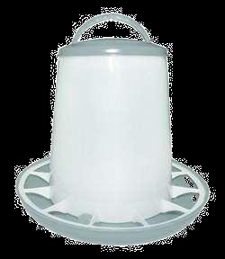 Fodertårn plast m/låg - 1,5 & 6 kg