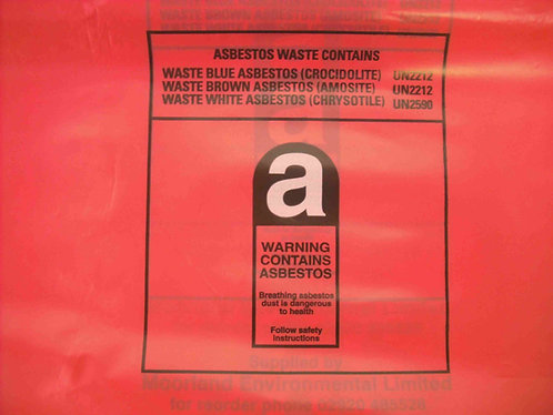 Red Asbestos Bags 1200mm x 900mm Pack of 100