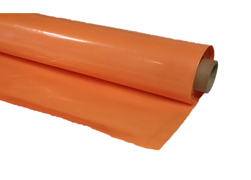 Orange polythene 4m x 25m 1000g flame retardent