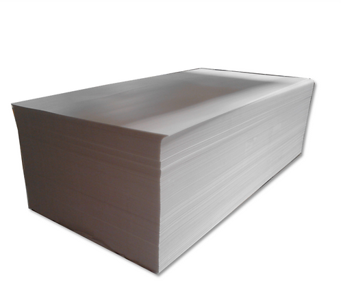 Fluted sheet 2mm x 120mm x 240mm in white