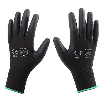 PU Coated Gloves Black size XL pack of 12