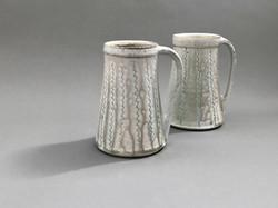2019 Teal Squiggle Salt Mugs
