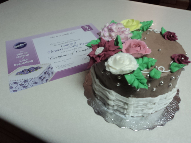 Royal Icing Garden Cake