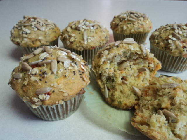 HEALTHY SEEDS & VEGETABLE MUFFINS