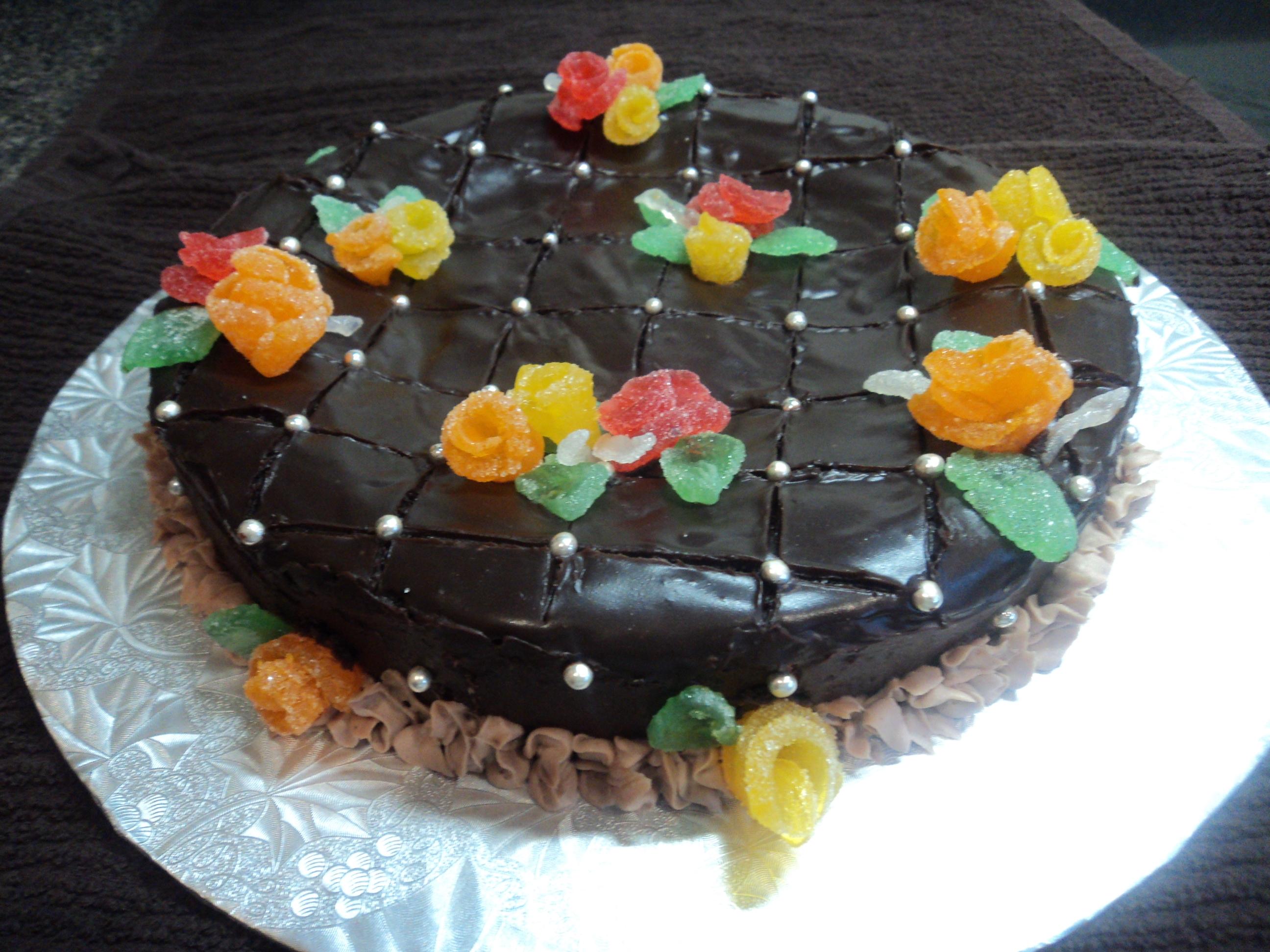 Garden Chocolate Cake