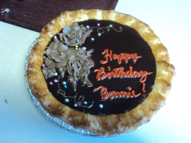 Birthday Chocolate Pie