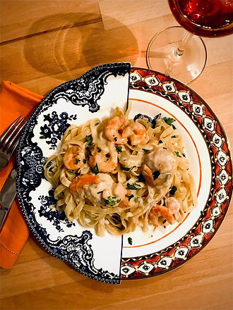 Tagliatelle with Saint Jacques and shrim