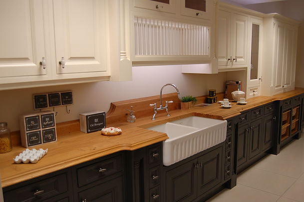 This hand Painted Kitchen range offers a fully customised look with premium grade made-to-measure doors available in a spray or hand painted finish. With a selection of door profiles, colours and wood-grain finishes to choose from this range is truly a bespoke option!