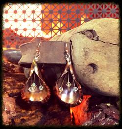 Crystal Beads | Copper | Earrings