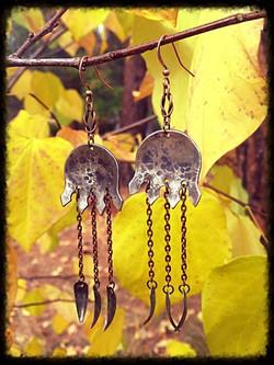 Forks | Silver  & Copper | Earrings