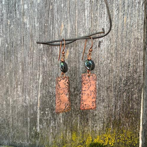 Hematite Patina Earrings