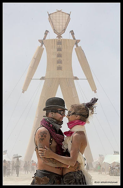 2014 Burning Man Engagment Picture