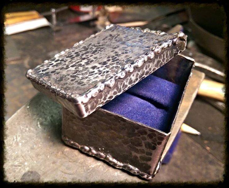 Custom Steel Ring Box