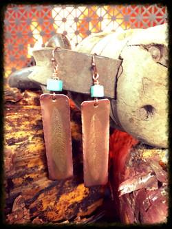 Turquoise | Copper | Earrings