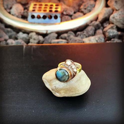 Labradorite Ring Size 5