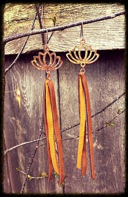 Fractal Marks | Leather | Earrings