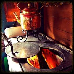 Wood stove inside Primrose