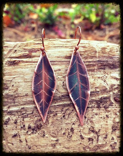 Leaf Etched | Copper | Earrings