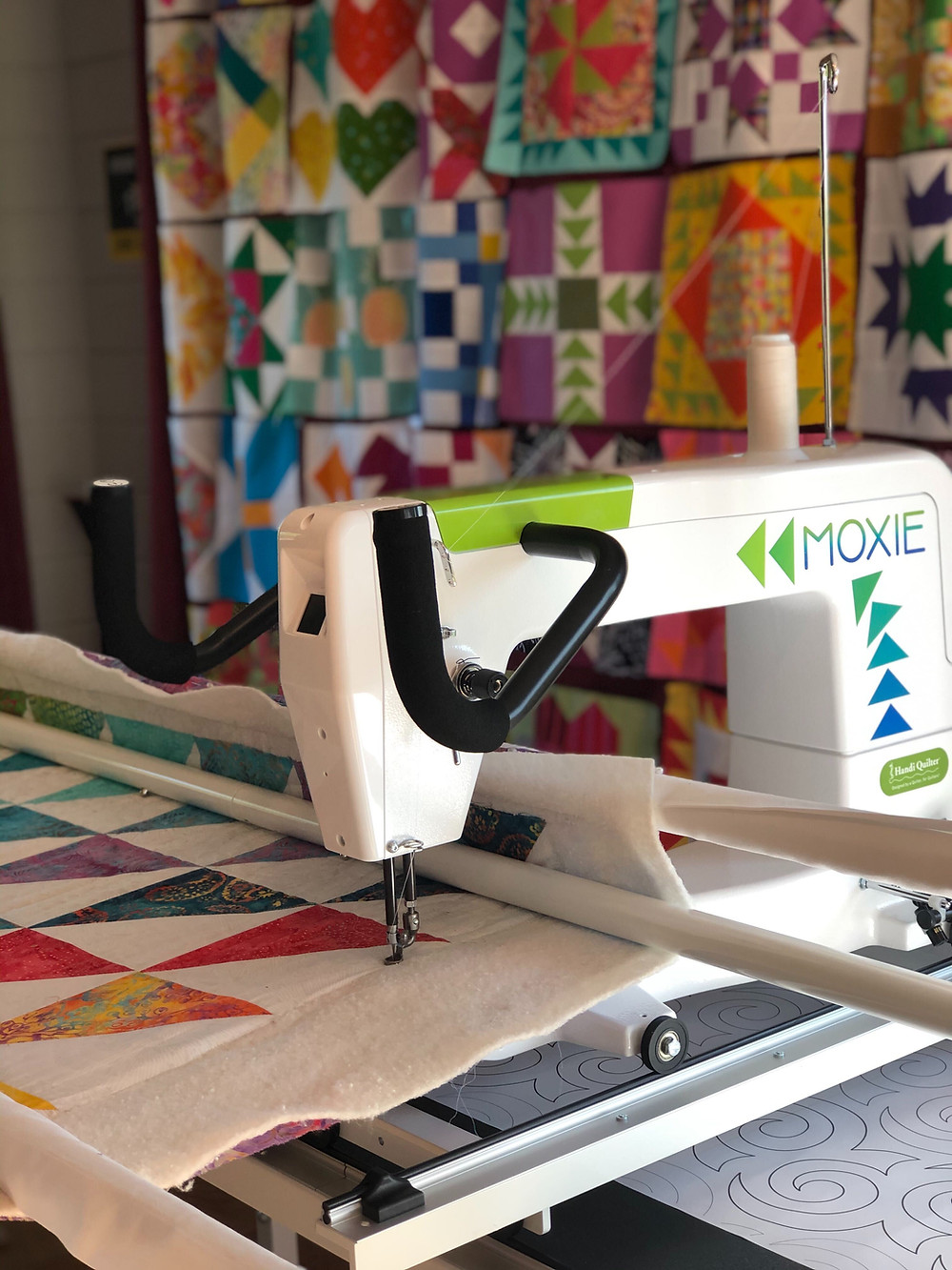 easy machine quilting on a domestic machine