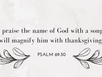 Magnify Him With Thanksgiving