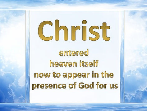 """Jesus Appeared In The Presence Of God """"For Us"""""""