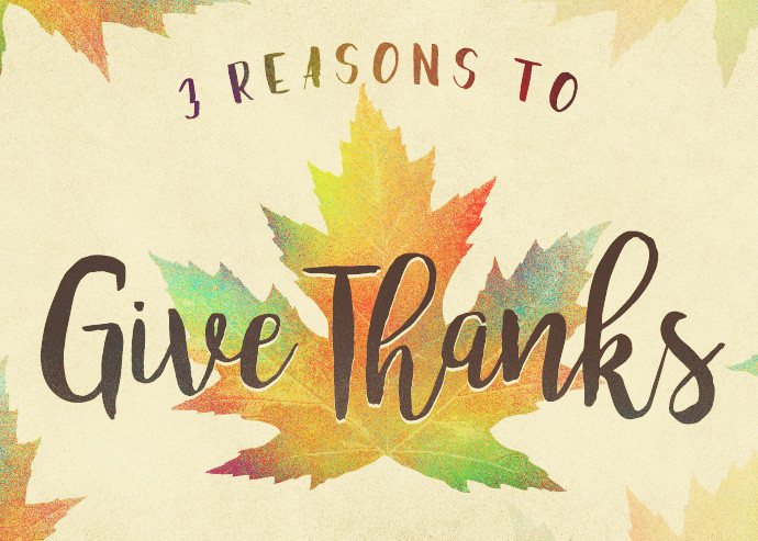 A Great Reason To Give Thanks Today