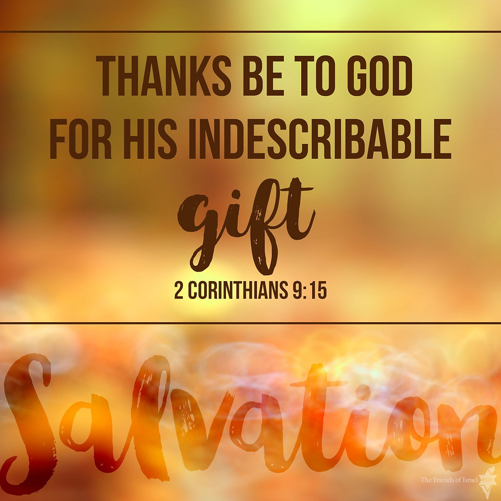 Thank God For His Indescribable Gift