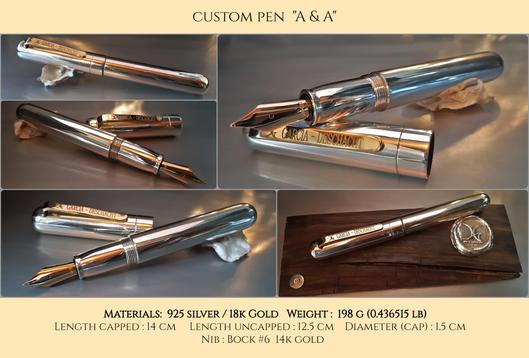 """Custom Pen """"A&A"""""""