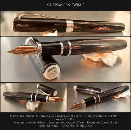 """Custom Pen """"Wish"""""""