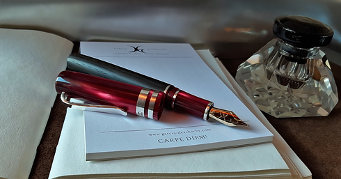 "Custom Pen ""Tempus Fugit"" / Garcia-Desch"
