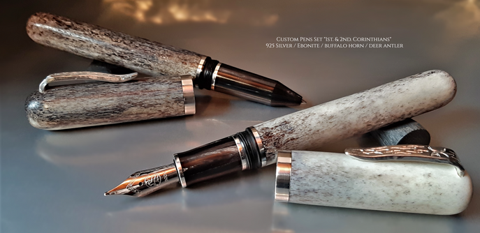 "Custom Pens Set ""1st. & 2nd. Corinthians"""