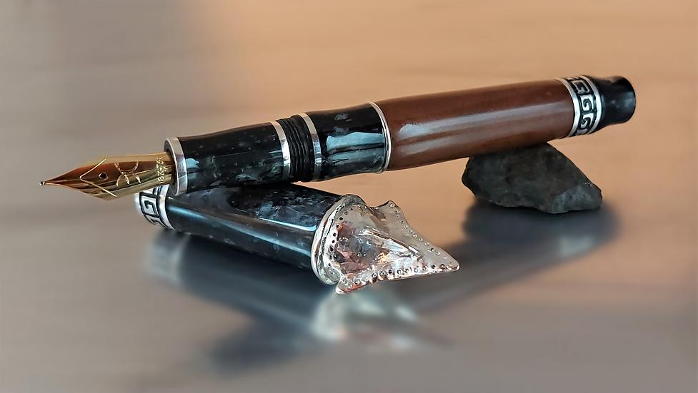 "Custom Pens - KLETEGD132FP - ""Tinia"" Etruscan God"