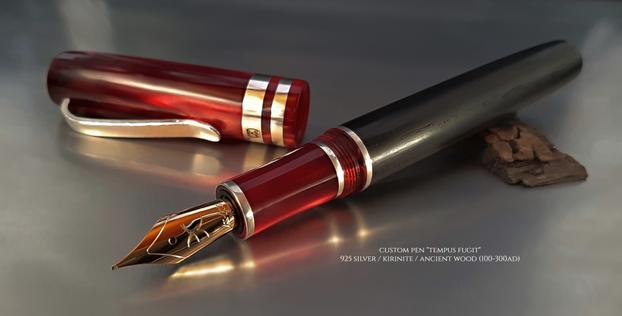"Custom Pen ""Tempus Fugit"""