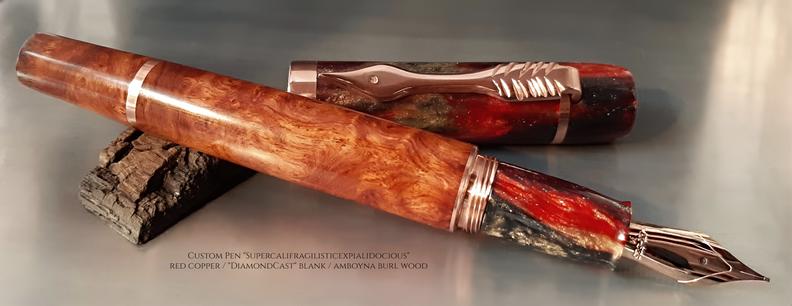 "Custom Pen ""Supercalifragilisticexpialidocious"""