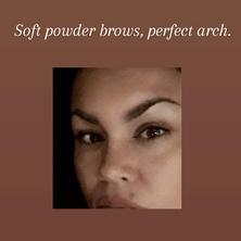 Combo, hairstroke and powder brow.