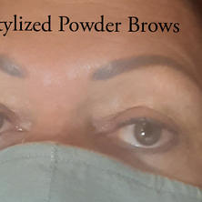 Powder brows, filled in