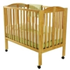 Mini Crib with Mattress and Linens