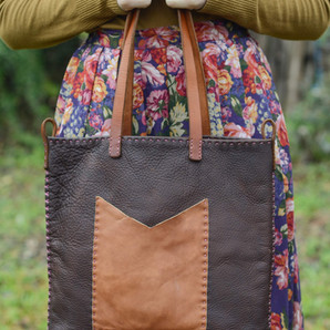 Oil tanned tote