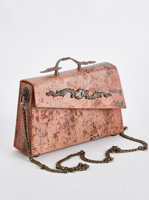 Topshelf Purse in marbled Bronze and Rose Gold