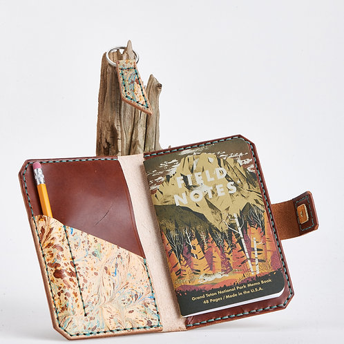 Passport Wallet in Marbled Brown
