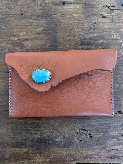 Compact Clutch with Turquoise clasp